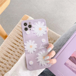 Fashion Pretty Purple Daisy Soft Casing