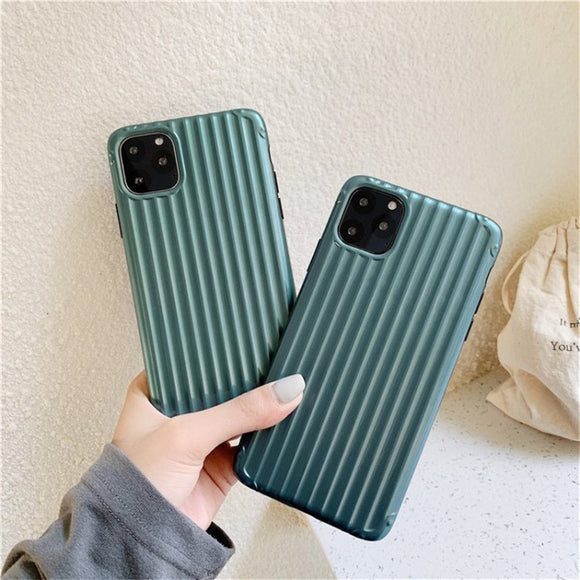 Fashion Stripe Pure Green Iphone Case