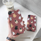 Retro Red Cute Cat Soft Casing