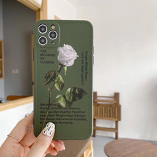 Load image into Gallery viewer, Unique Charm Army Green Rose Flower Iphone Case