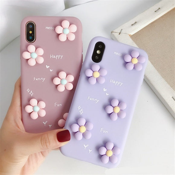 Korean Fashion Nice 3D Flower Soft Casing