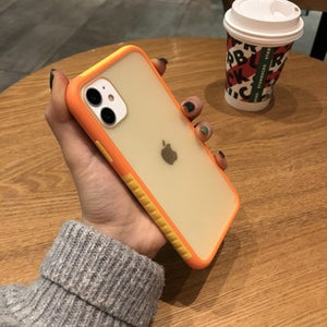 Korean Fashion Pretty Double Color Matte Soft Casing