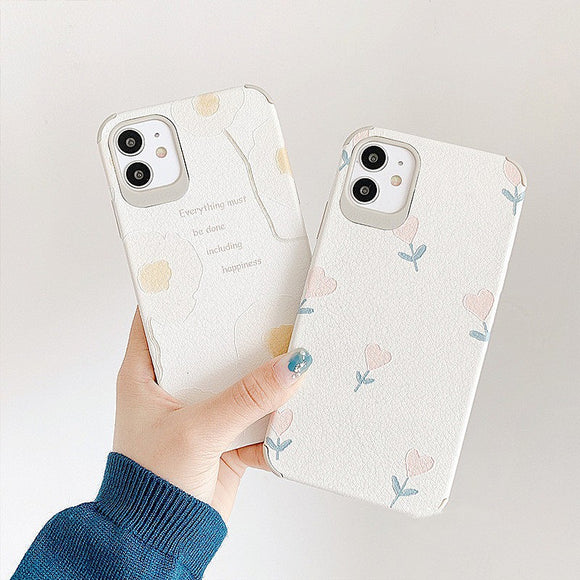 Korean Simple Pretty Flower Iphone Case
