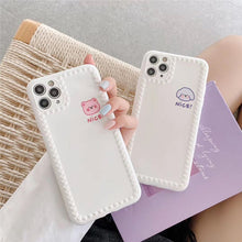 Load image into Gallery viewer, Korean Fashion Cute Simple White Animal Iphone Case
