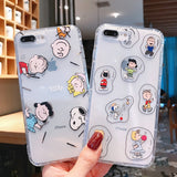 Transparent Anti Fall Snoopy Soft Casing
