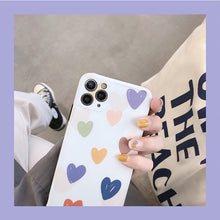 Load image into Gallery viewer, Korean Fashion Pretty Colored Love Heart Soft Casing