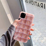 Korean Pink Shell Lattice Soft Casing