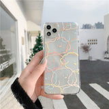 Korean Cute Transparent Rainbow Dog Soft Casing