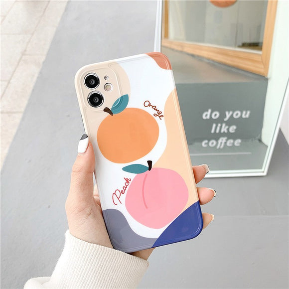 Korean Fashion Pretty Colored Fruit Soft Casing