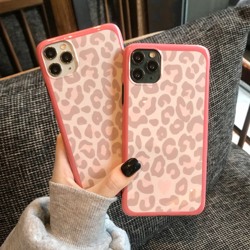 Korean Pink Leopard Print Soft Casing