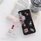 Hot Selling 3D Cute Drink Capsule Soft Cover