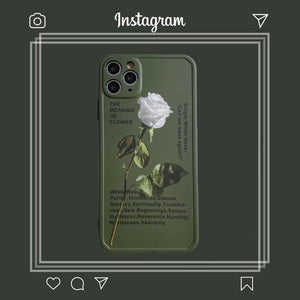 Unique Charm Army Green Rose Flower Iphone Case