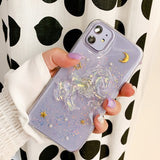Korean Transparent Sequins Unicorn Soft Casing