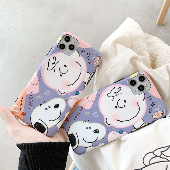 Snoopy Cute Cartoon Soft Case