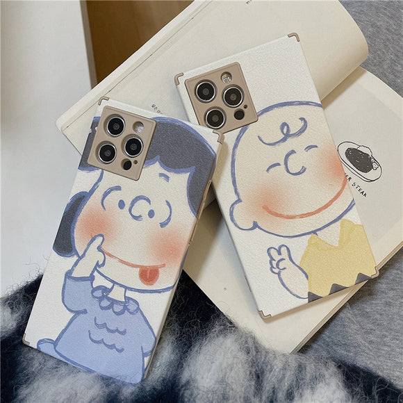 Cute Couple Cartoon Iphone Case