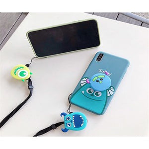 Creative Cartoon with Rope and Stand Soft Casing