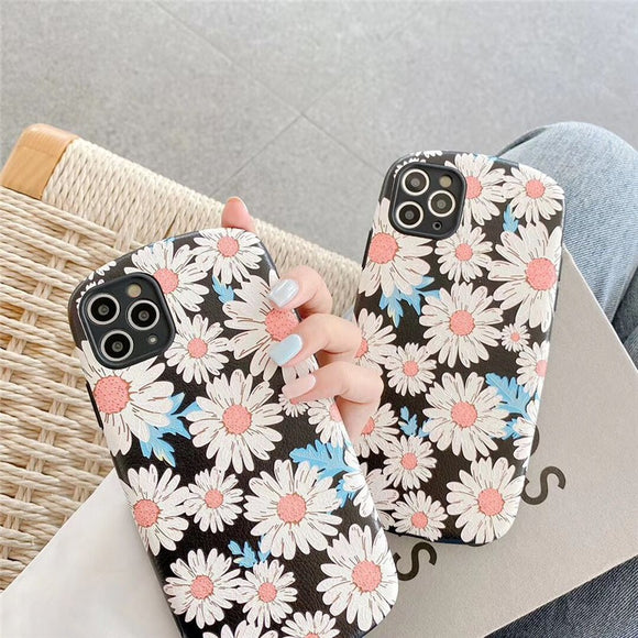 New Arrival Fashion Daisy Flower Oval Iphone Case