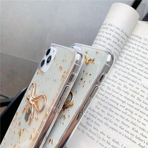 Korean Fashion Gold Foil Bowknot Soft Casing