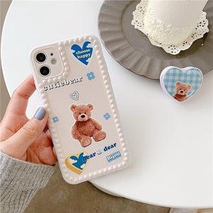 Fashion Cute Blue Little Bear with Stand