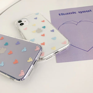 Fashion Cute Transparent Candy Color Love Heart