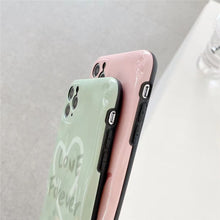 Load image into Gallery viewer, Pure Color Pink Green Couple Casing