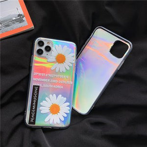 Creative Korean Fashion Laser Daisy Flower Soft Casing