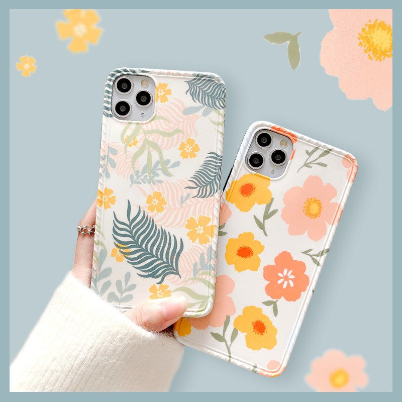 ins Pretty Spring Flower Soft Casing