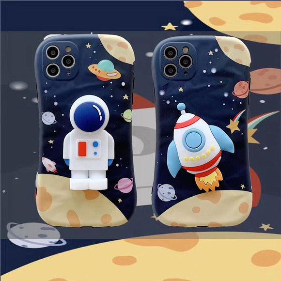 Korean Fashion Creative 3D Astronaut Soft Casing