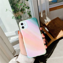 Load image into Gallery viewer, Korean Fashion Gradient Rainbow Soft Casing