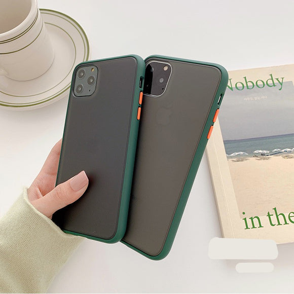 Korean Fashion Pretty Green Color Soft Case