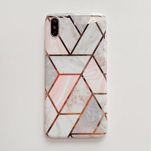 New European Pretty Pink Marble Soft Casing