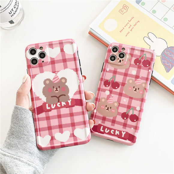 Korean Sweet Cute Pink Cherry Bear