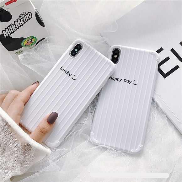 Hot Super Simple Style White Stripe Soft Casing