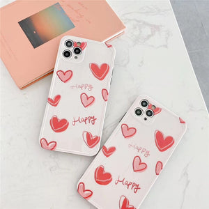 Fashion Nice Pink Love Heart Soft Casing