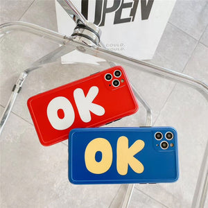 Fashion Cool Red Blue OK Soft Casing