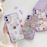 Fashion Cute Purple Frame Shiny Animal Iphone Case