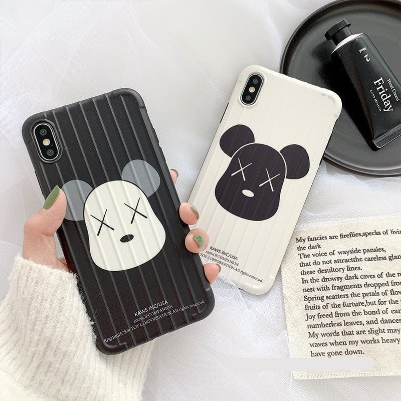 Fashion Cartoon Bear Stripe Soft Casing