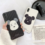 Load image into Gallery viewer, Fashion Cartoon Bear Stripe Soft Casing