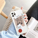 Korean Fashion Cute Label Little Bear Soft Casing