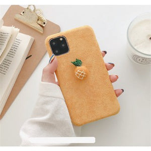 Fashion Cute Yellow Pineapple Soft Casing