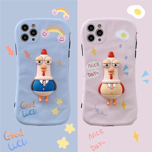 Cartoon Couple 3D Suit Rooster Soft Cover