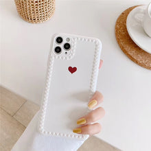 Load image into Gallery viewer, Red Love Heart Iphone Case