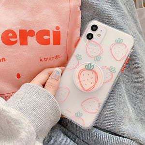 Strawberry Cute Pretty Iphone Case with Stand