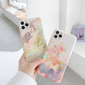 Korean Fashion Pretty Marble Iphone Case