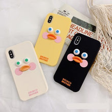 Load image into Gallery viewer, Korean Cute 3D Little Yellow Duck Soft Casing