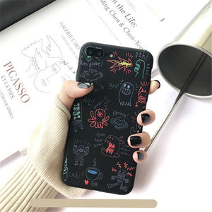 Hand Drawn Cute Cartoon iPhone Soft Casing