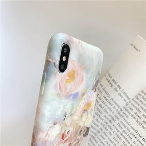 Pretty Art Oil Painting Flower Soft Casing