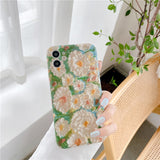 Unique Oil Painting Daisy Iphone Case