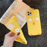 Creative Cute Silica Gel Little Yellow Chicken Soft Cover