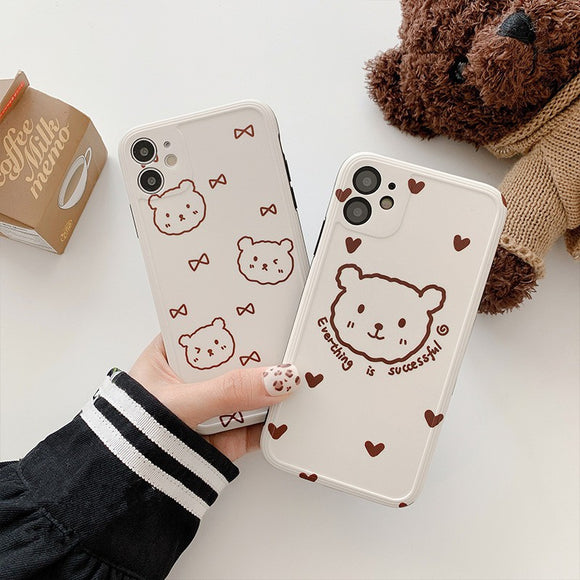 Full Camera Lens Protective Cute Little Bear Soft Case